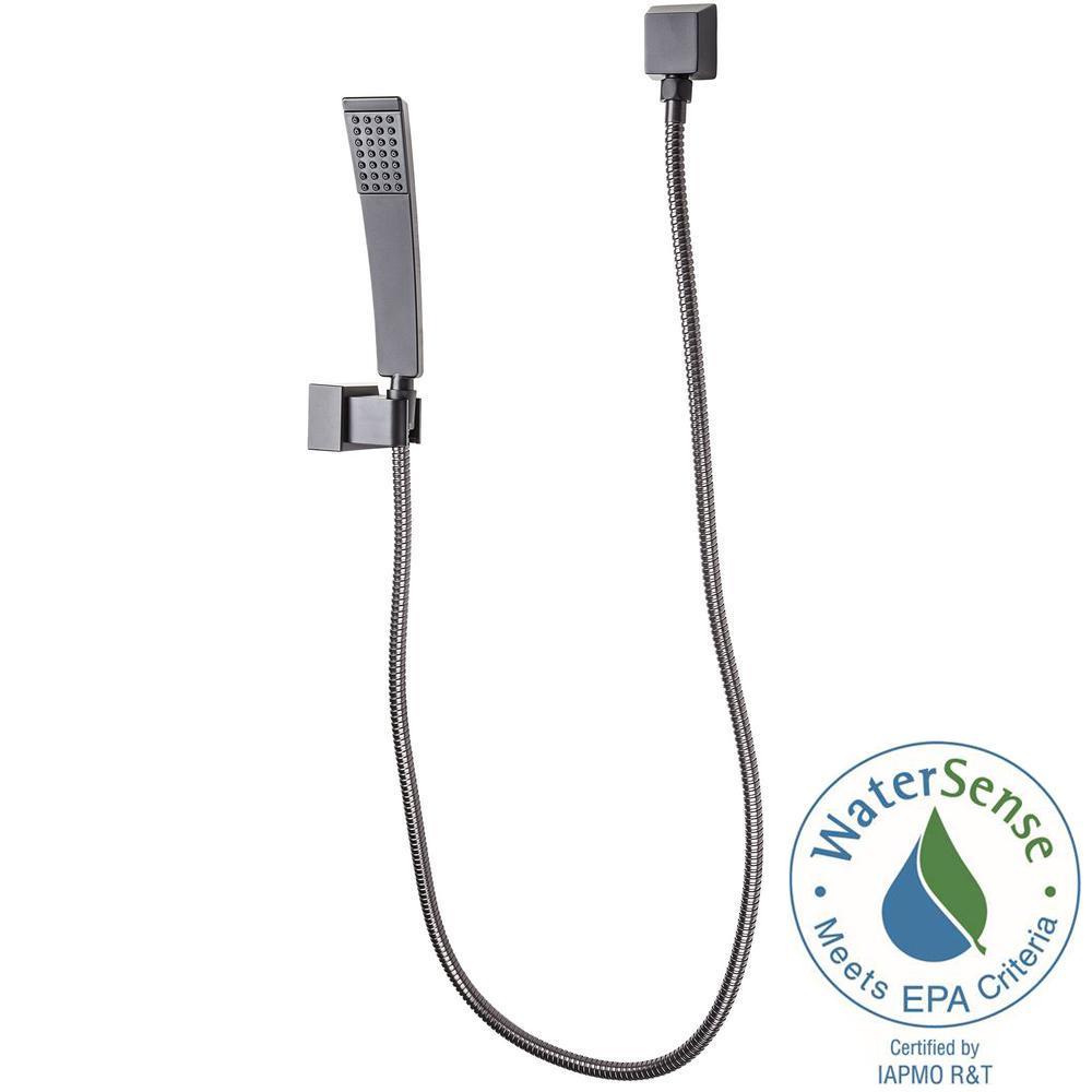 Kenzo Single-Spray Wall Mount Hand Shower Kit in Matte Black