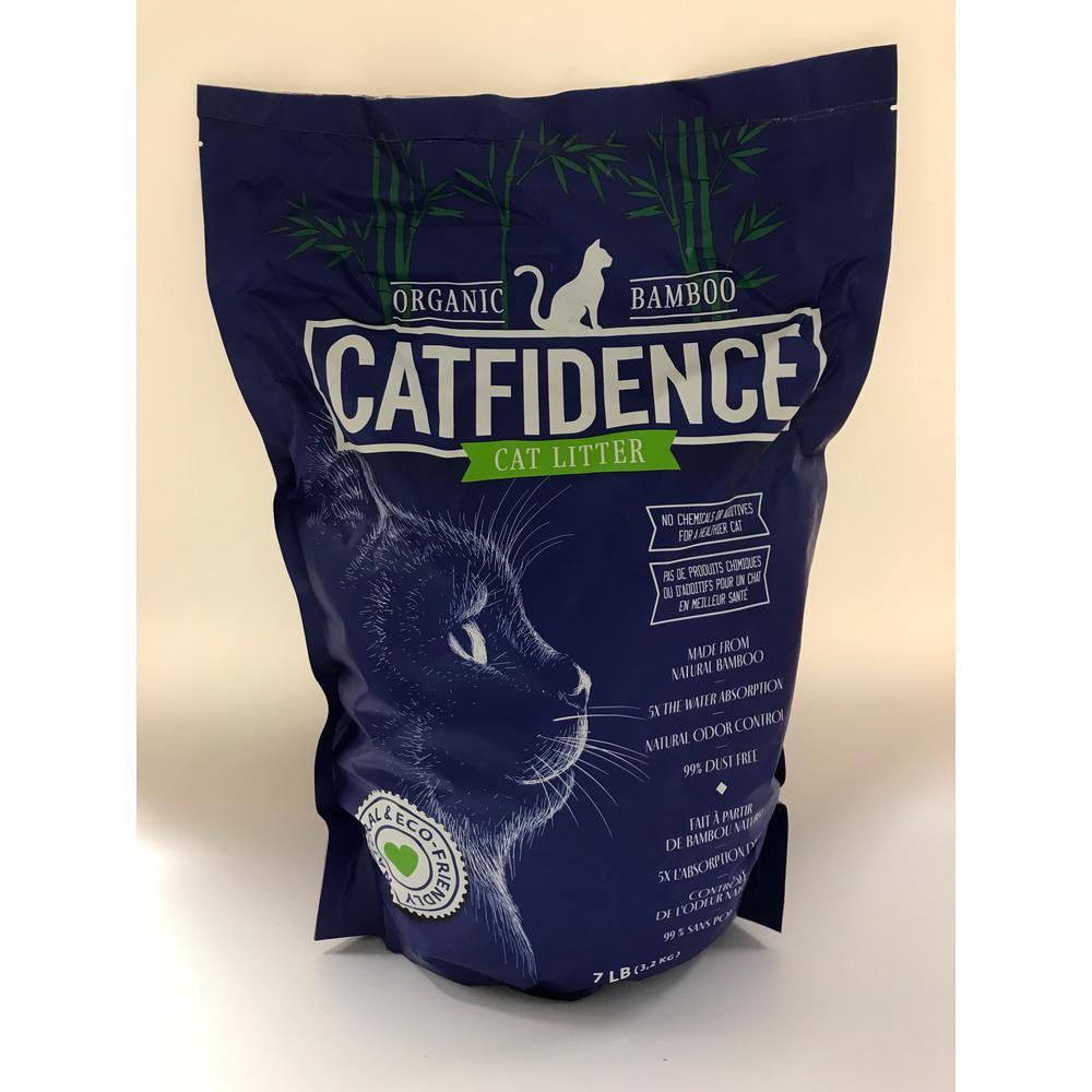 CATFIDENCE ORGANIC BAMBOO CAT LITTER USDA BioBased Certified Bamboo Cat Litter 7 lbs. Bag