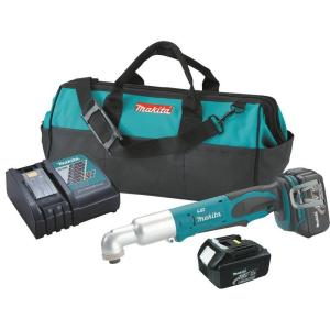 Makita 18-Volt LXT Lithium-Ion 1/4 inch Cordless Angle Impact Driver Kit with (2) Batteries 3.0Ah, Charger and... by Makita