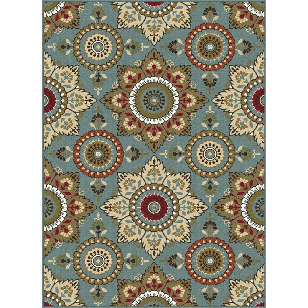 tayse rugs majesty seafoam 5 ft x 7 ft area rug mjs1413 5x7 the home depot. Black Bedroom Furniture Sets. Home Design Ideas