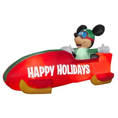 6 ft. Inflatable Mickey in a Bobsled Christmas