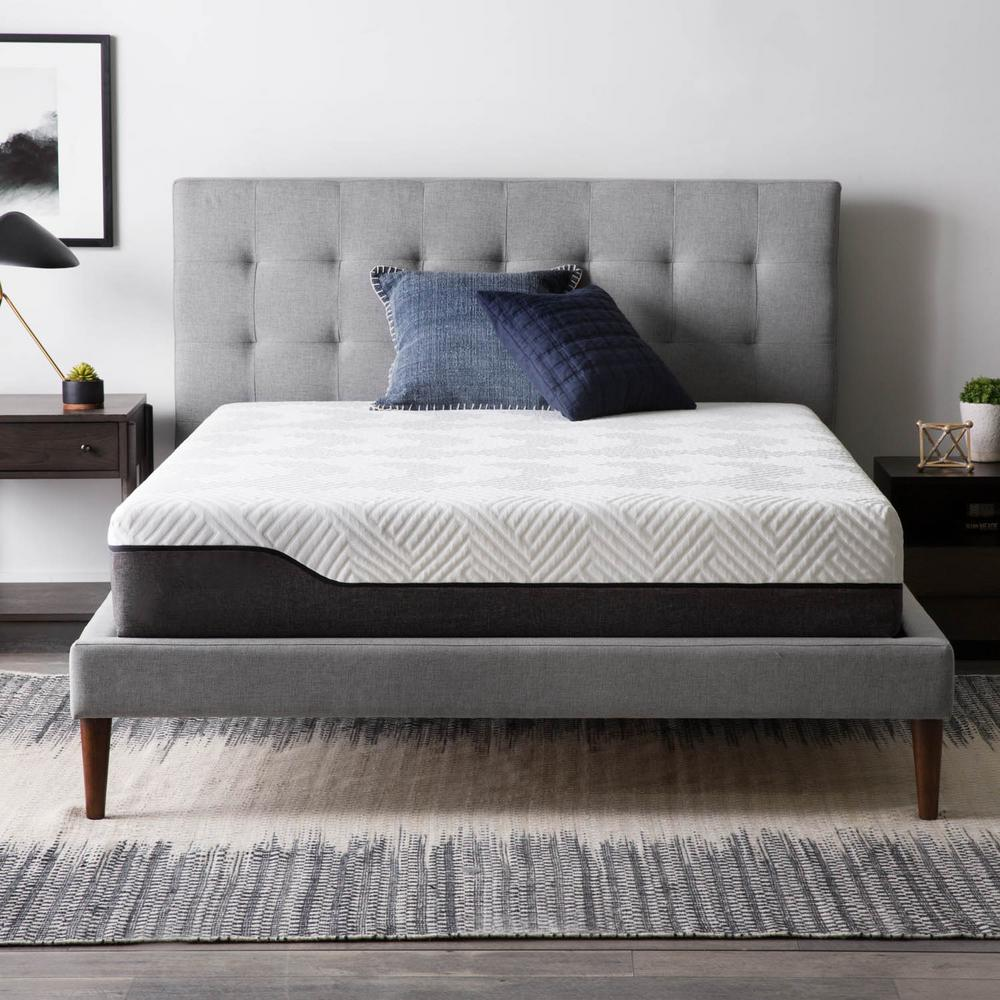 Lucid 10 in. Twin Bamboo Charcoal and Aloe Vera Hybrid Mattress