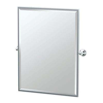 Charlotte 29 in. x 33 in. Framed Single Large Rectangle Mirror in Chrome