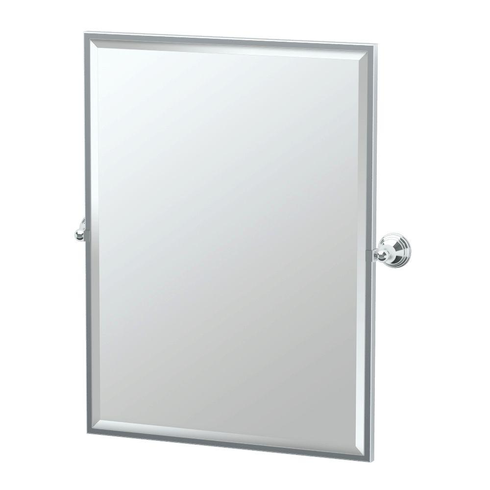 Charlotte 29 in. x 33 in. Framed Single Large Rectangle Mirror