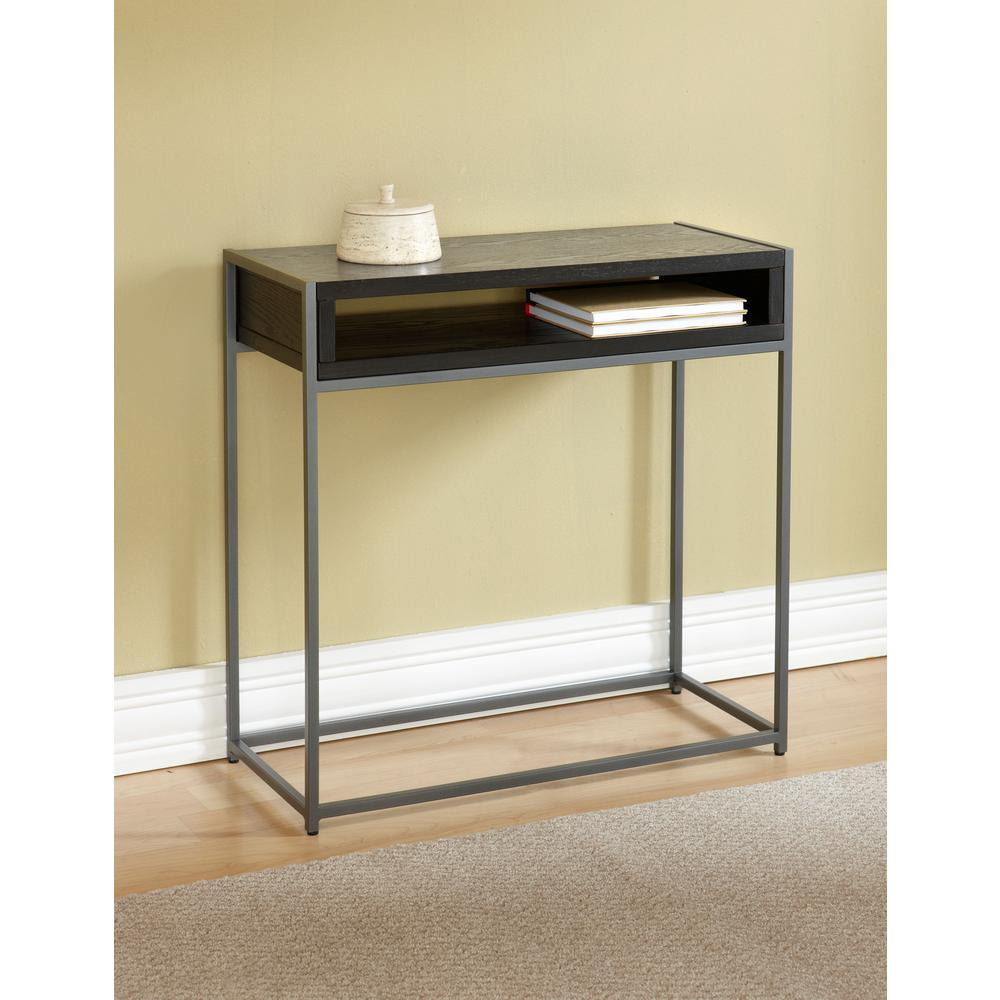 Tag wabash black storage console table tag390125 the home depot tag wabash black storage console table geotapseo Image collections