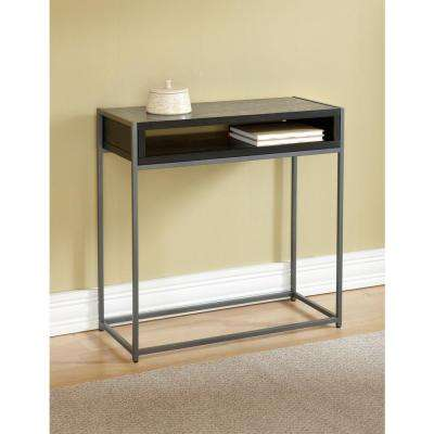 Wabash Black Storage Console Table