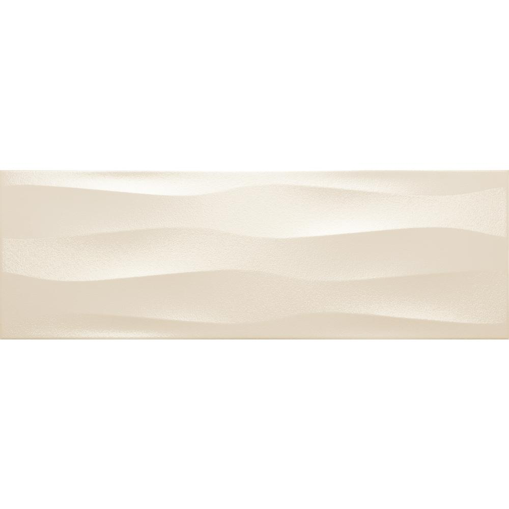 Emser Artwork Cream Wave 1181 In X 3543 In Ceramic Wall Tile