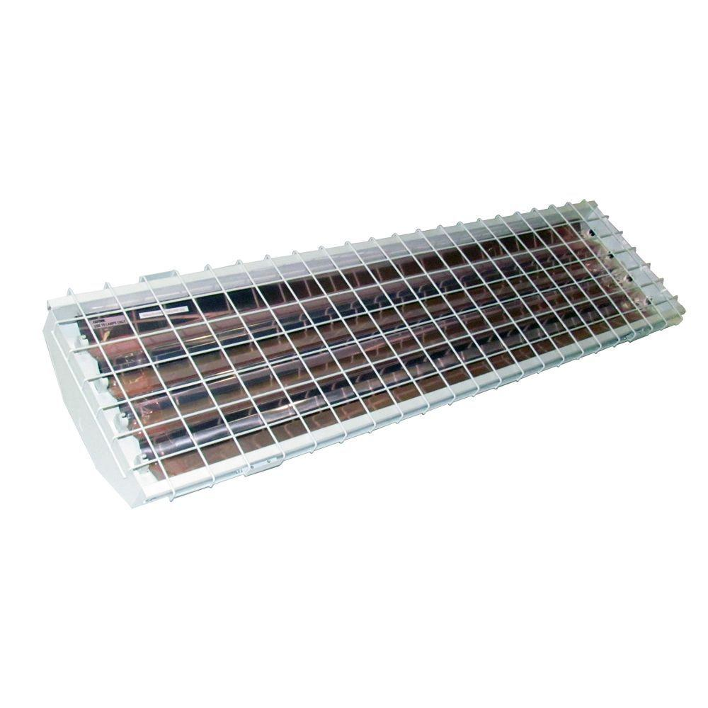 HomeSelects 4-Lamp High Output T5 High Bay with Aluminum Reflector and Wire Guard-DISCONTINUED