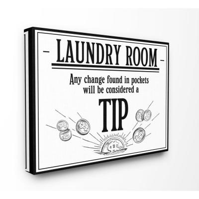 Stupell Industries Laundry Room Tips Funny Bathroom Word Design by The Saturday Evening Post Canvas Abstract Wall Art 48 in....