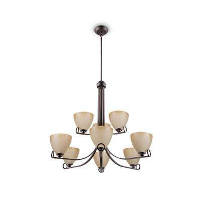 Maurice 9-Light Oiled Bronze Chandelier