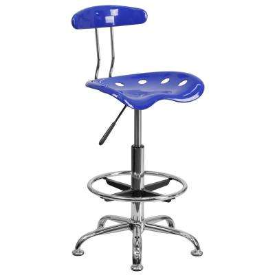 Vibrant Nautical Blue and Chrome Drafting Stool with Tractor Seat  sc 1 st  The Home Depot & Office/Desk Chair - Blue - Plastic - Office Chairs - Home Office ...