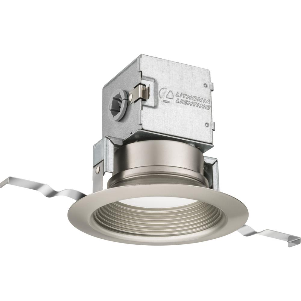 Lithonia Recessed Led Trim: Lithonia Lighting Lithonia OneUp 4 In. Brushed Nickel