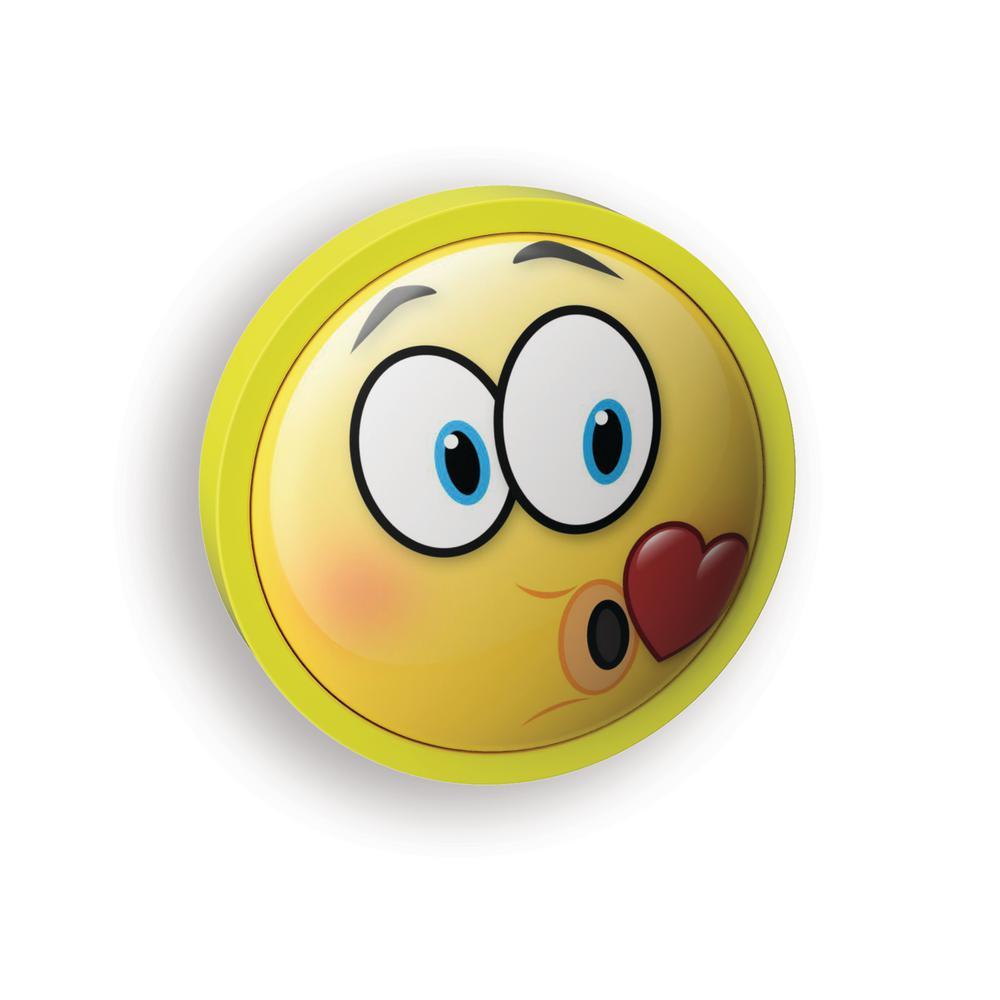 Amerelle Blowing Kiss Emoji Led Night Light Nl Ejbk The Home Depot