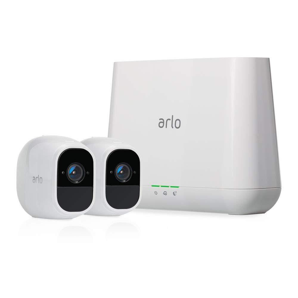 Arlo Pro2 1080p Wireless Indoor Outdoor Security Camera System In White