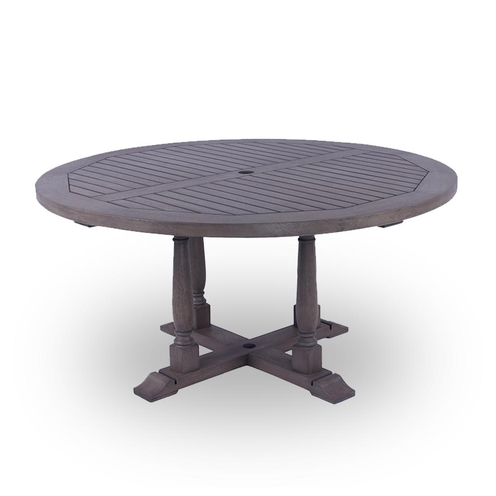 Cambridge Casual Lyon Round Wood Outdoor Dining Table-HD ...