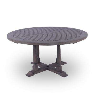 Lyon Round Wood Outdoor Dining Table
