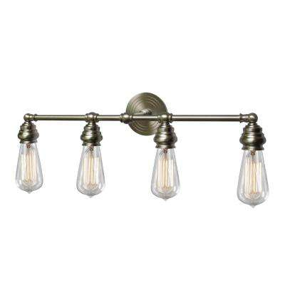 Tiffany 4-Light Brushed Nickel Bath Light