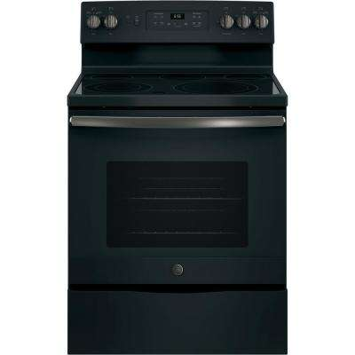 30 in. 5.3 cu. ft. Electric Range with Self-Cleaning Convection Oven Black Slate, Fingerprint Resistant