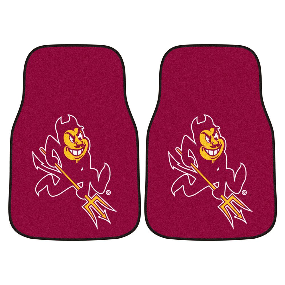 Arizona State University 18 in. x 27 in. 2-Piece Carpeted Car