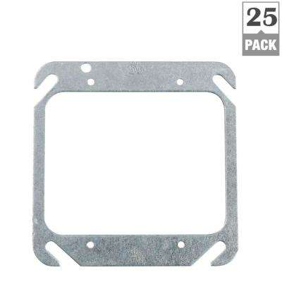 2-Gang Square Metal Electrical Box Cover (Case of 25)