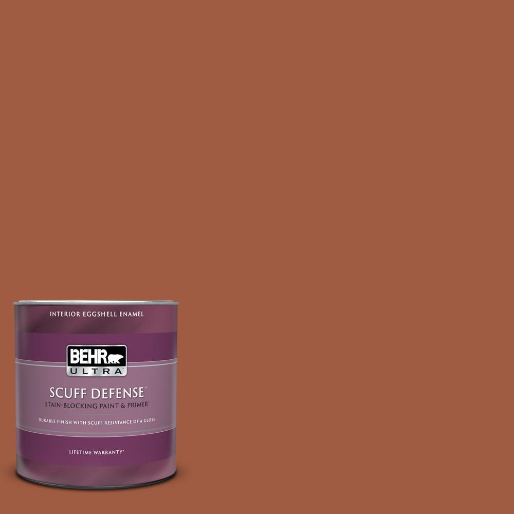 Behr Ultra 1 Qt Home Decorators Collection Hdc Ac 01 Nouveau Copper Extra Durable Eggshell Enamel Interior Paint And Primer 275304 The Home Depot