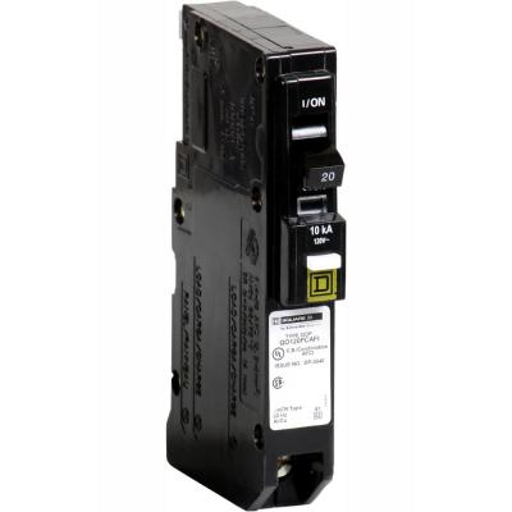 QO 20 Amp Single-Pole Plug-On Neutral Combination Arc Fault Circuit Breaker