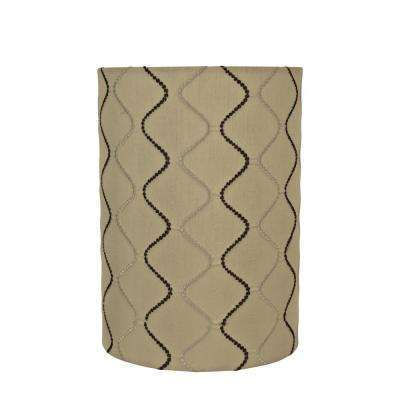 Browntan drum lamp shades lamps the home depot yellowish brown drumcylinder lamp shade aloadofball Choice Image