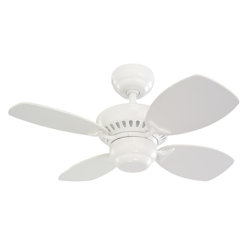 Monte Carlo Colony II. 28 in. Indoor White Ceiling Fan
