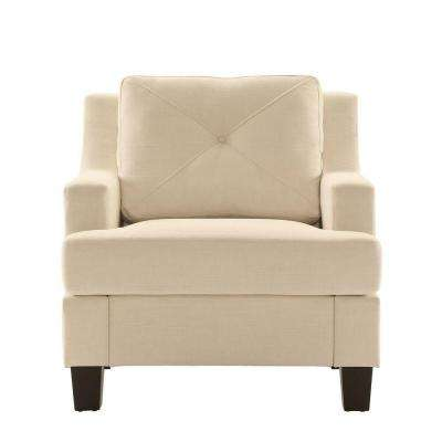 Emerson White Linen Arm Chair