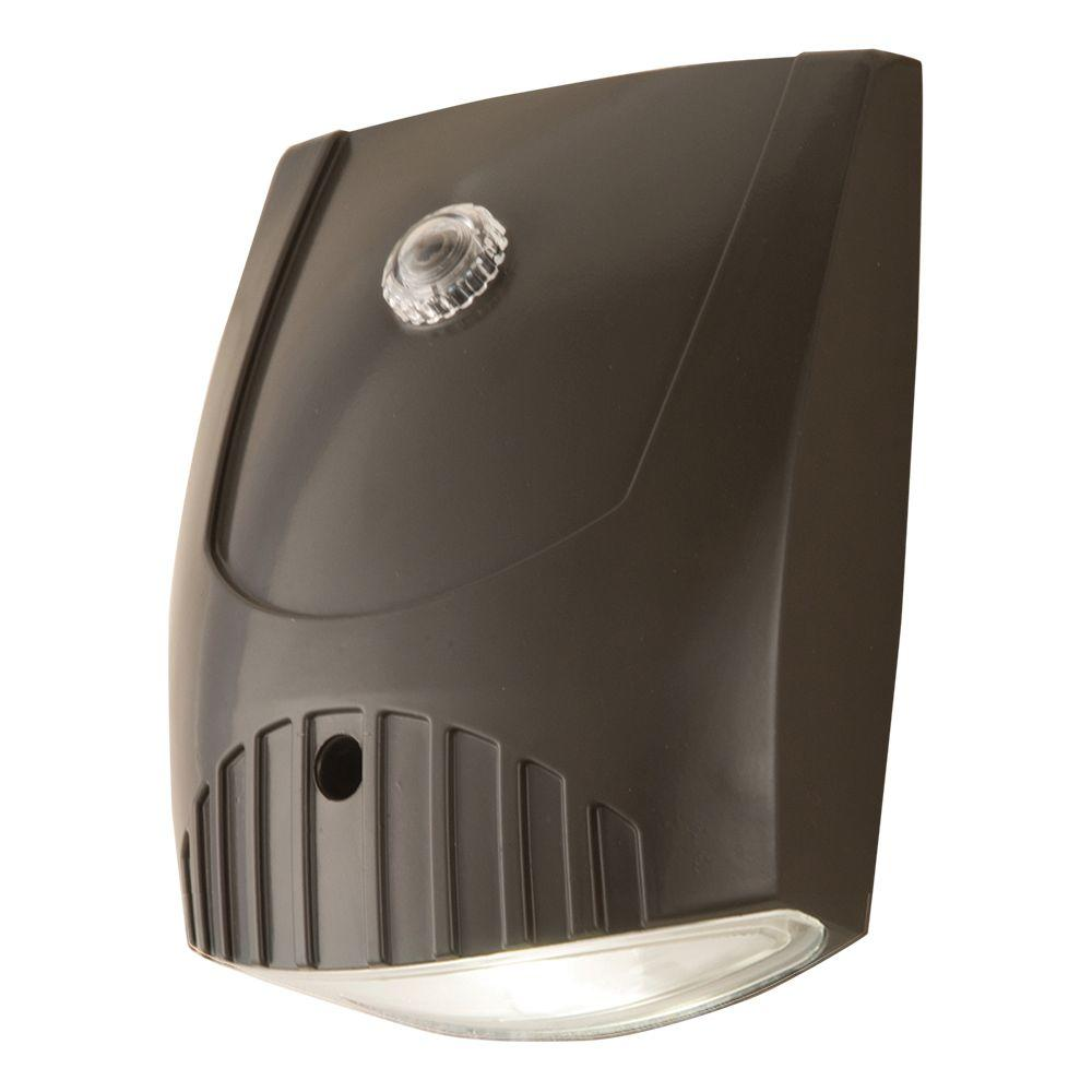 Max Light Led Wall Pack: All-Pro Bronze Integrated LED Outdoor Wall Pack Light With