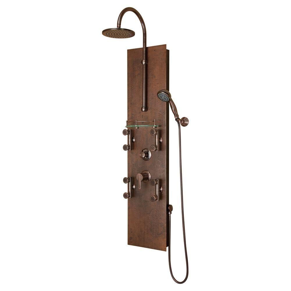 PULSE Showerspas Mojave 8-Jet Shower System in Oil Rubbed Bronze ...