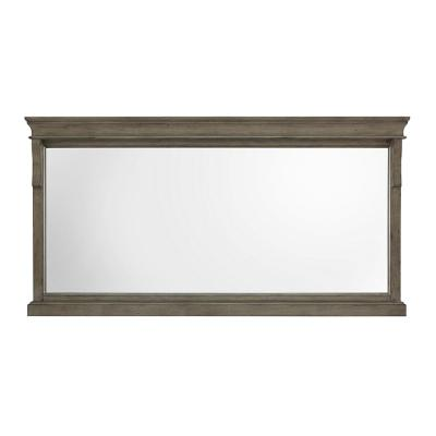 60 in. W x 31 in. H Framed Rectangular  Bathroom Vanity Mirror in Distressed Grey