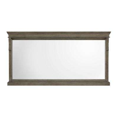 Naples 60 in. W x 31 in. H Single Framed Wall Mirror in Distressed Grey