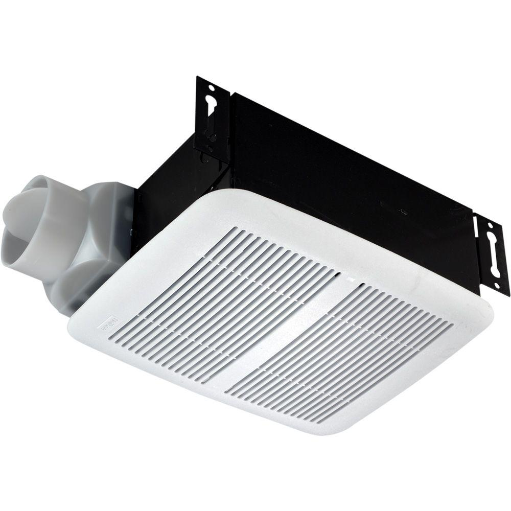 Nutone 80 cfm ceiling exhaust fan 8832wh the home depot for 6 bathroom exhaust fan