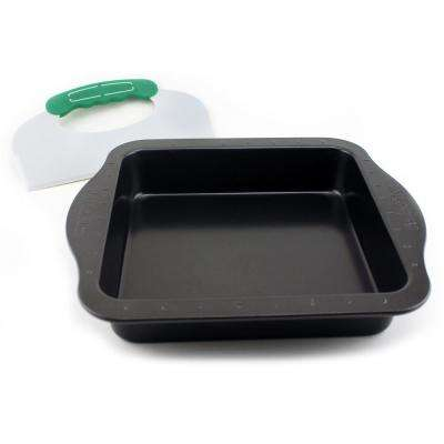 Perfect Slice Square Cake Baking Pan with Cutting Tool