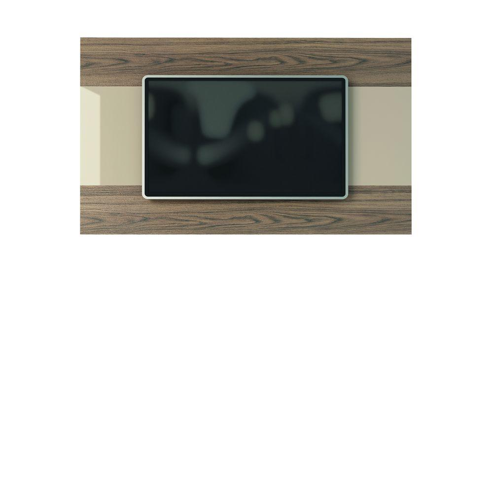 Manhattan Comfort Carnegie TV Panel in Nature and Nude/Pro Touch and High Gloss