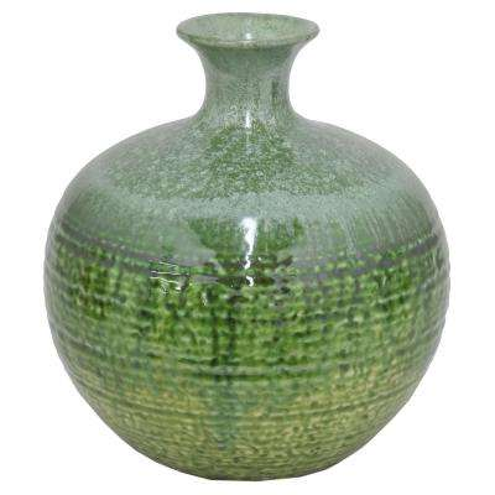 Green Drip Ceramic Vase