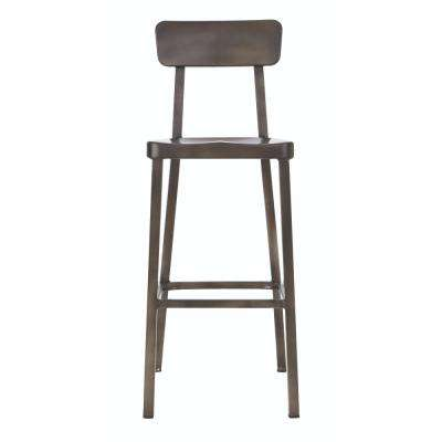Jacob 30 in. Gunmetal Bar Stool