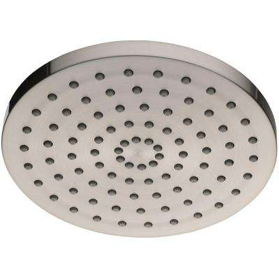 1-Spray 8 in. Round Showerhead in Brushed Nickel