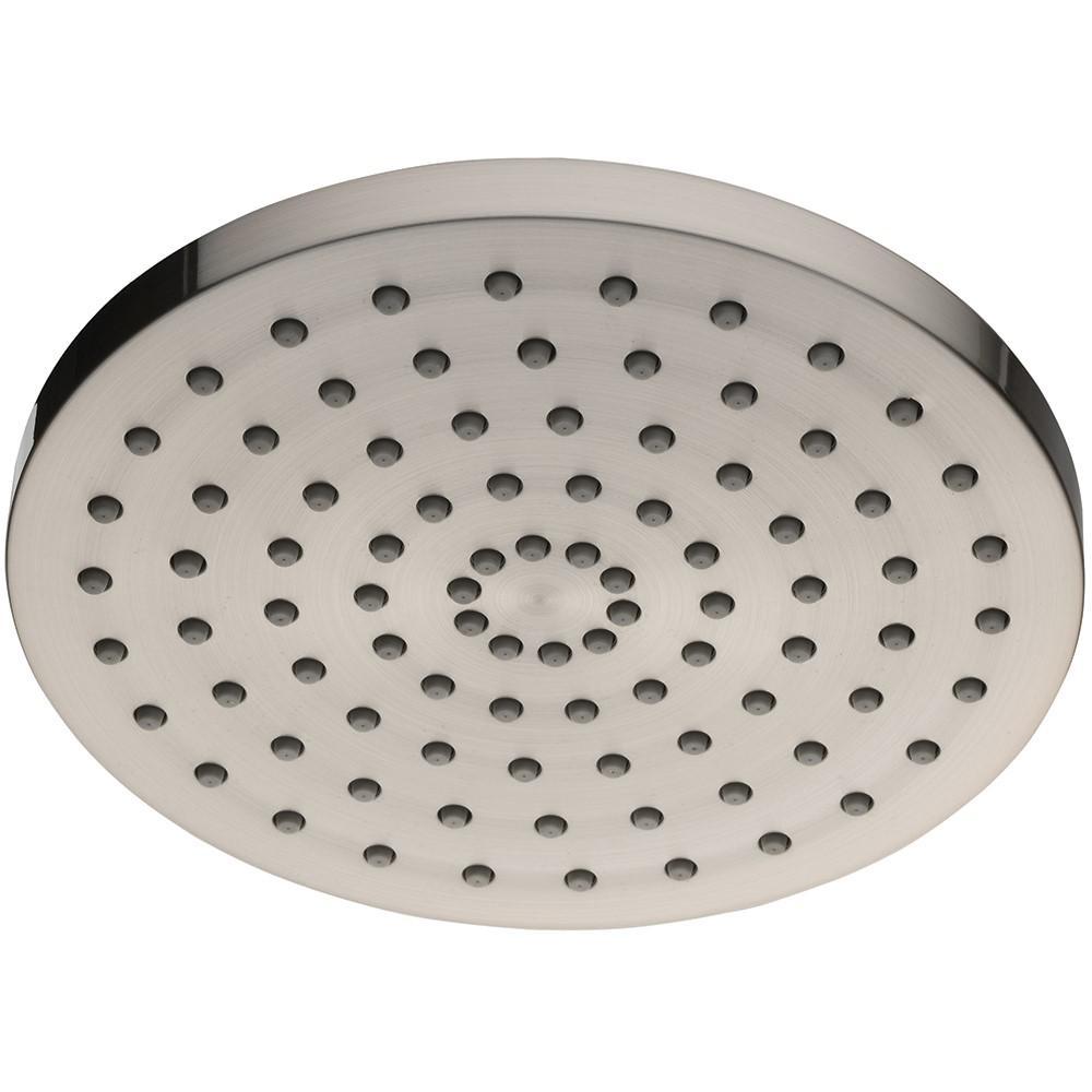 1-Spray 8 in. Round Showerhead in Brushed Nickel