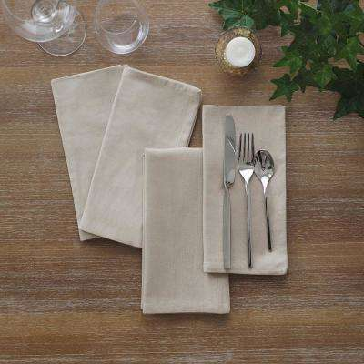 17 in. W x 17 in. L Elrene Stone Wash Linen Napkins (Set of 24)