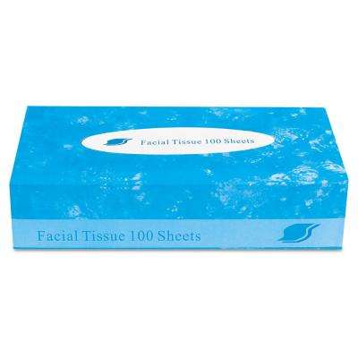2-Ply White Boxed Facial Tissue (100 Sheets/Box)