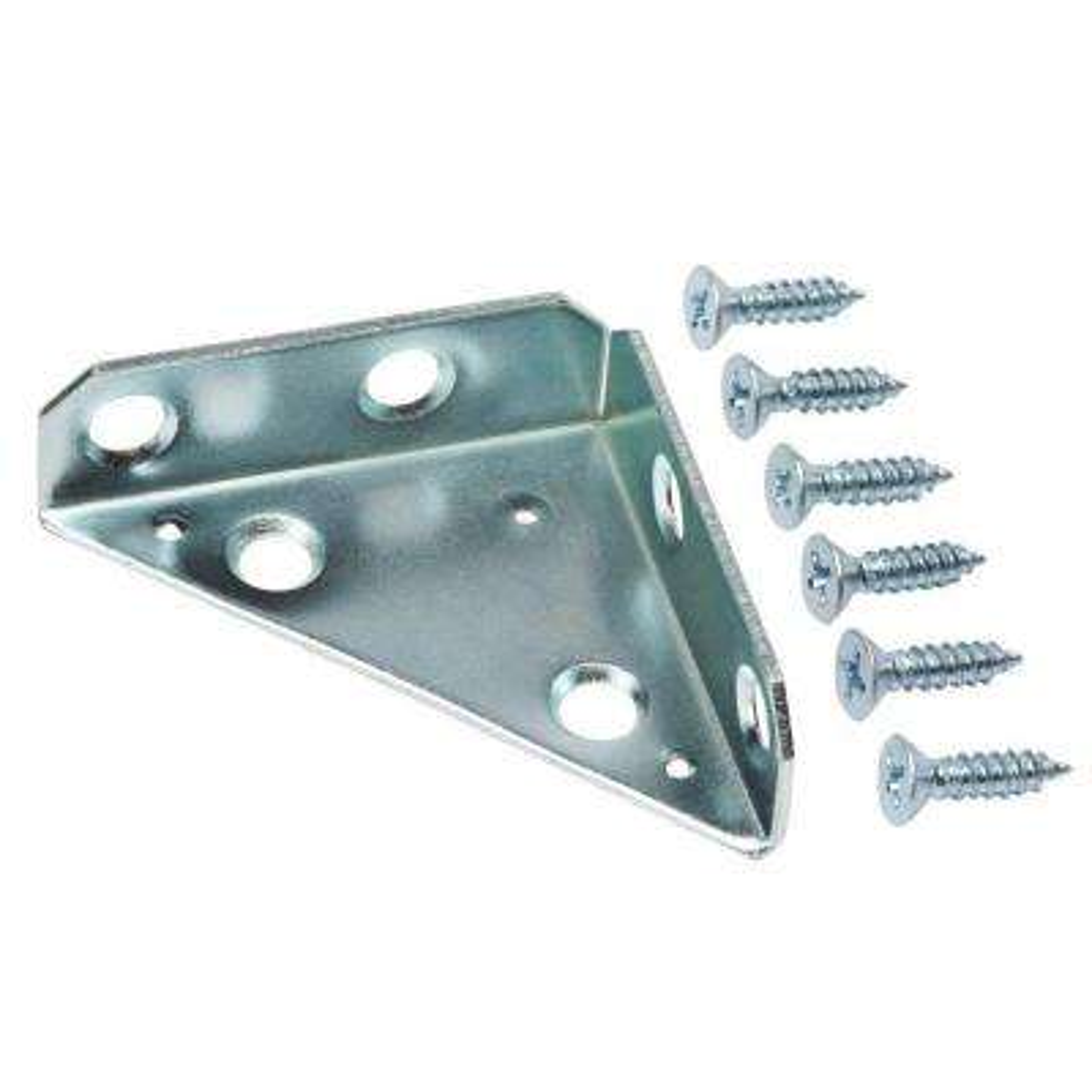 2 in. Zinc-Plated Heavy Duty Corner Brace (2-Pack)