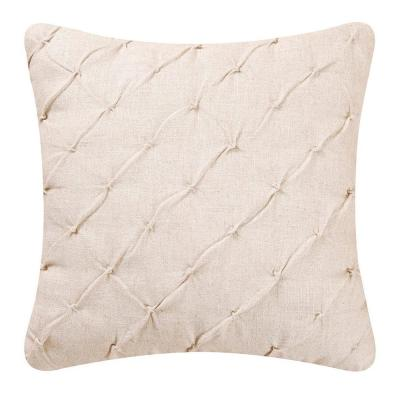 Diamond Tuck Cream Standard Pillow