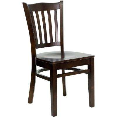 Hercules Walnut Wood Seat/Walnut Wood Frame Side Chair