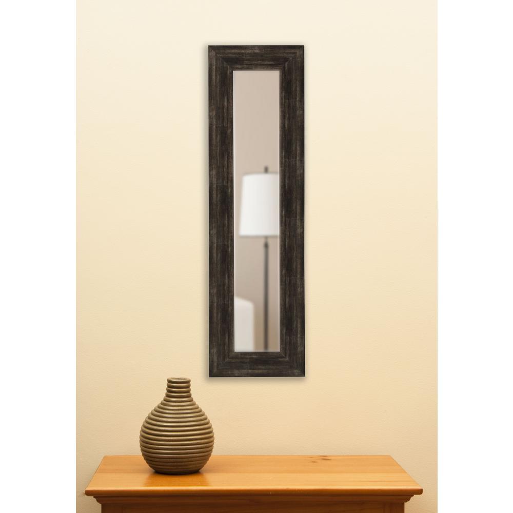 35.5 in. x 9.5 in. Brushed Classic Brown Vanity Mirror Single Panel