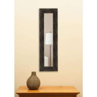 32.5 in. x 11.5 in. Brushed Classic Brown Vanity Mirror Single Panel