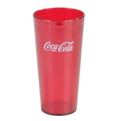 20 oz. SAN Plastic Stackable Tumbler in Ruby with Coca Cola logo imprint (Case of 72)