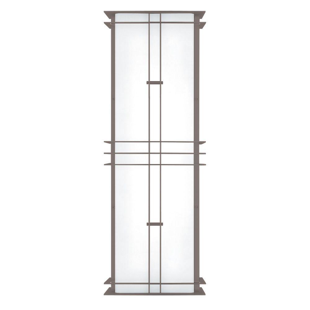 Modular Industrial 2-Light Outdoor Stainless Steel Medium Fluorescent Wall Sconce