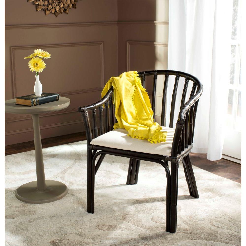 Safavieh Gino Black Wood Arm Chair SEA4017A